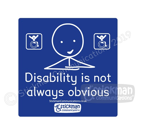 Disability is not obvious vinyl sticker