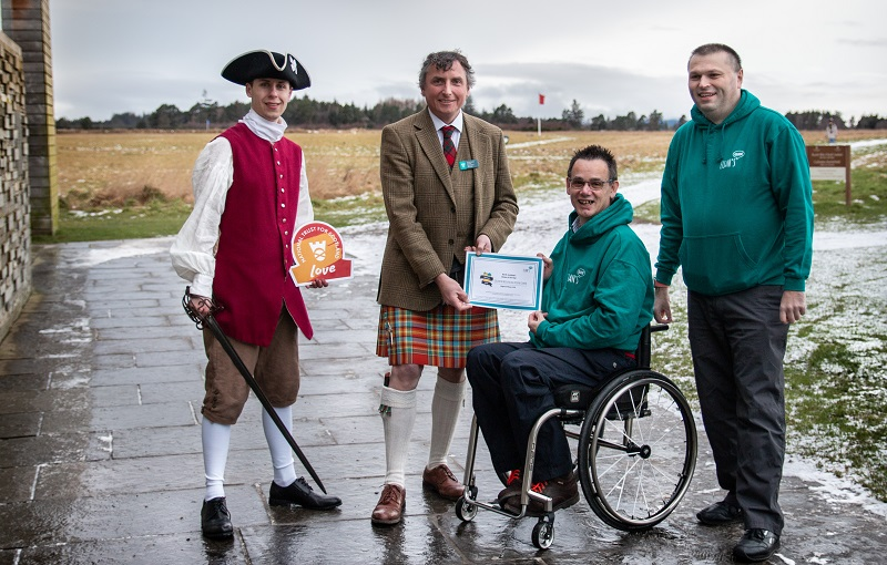 NTS Culloden award presented by Paul Ralph from Euan's Guide