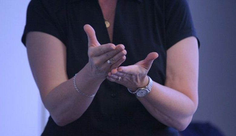 Hands doing sign language