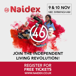 Naidex banner with new dates of 9th and 10th November