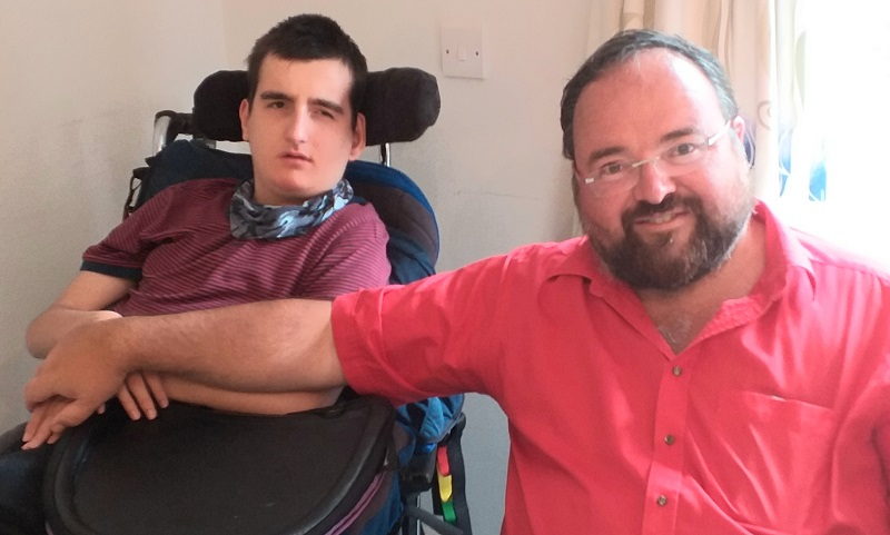 Duncan with his son Joe who has Dravet Syndrome