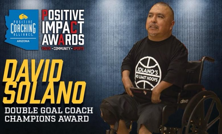 David Solano winner of a Positive Impact Award