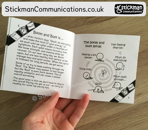 Stickman Communications book open at a page