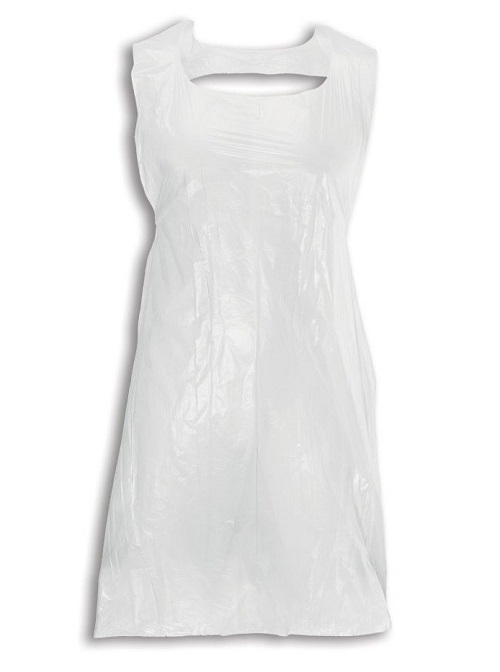 PPE white plastic apron