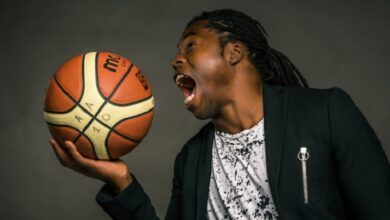 Photo of Ade Adepitan on his wheelchair basketball career and becoming a television presenter and author