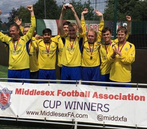 Middlesex football team having won