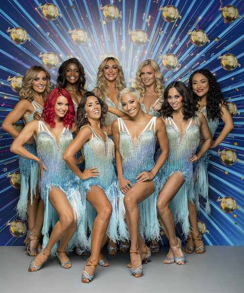 The Strictly Come Dancing professional dancers. (Back, then front row l-r) Amy Dowden, Oti Mabuse, Luba Mushtuk, Nadiya Bychkova, Nancy Xu, Dianne Buswell, Janette Manrara, Karen Hauer, Katya Jones