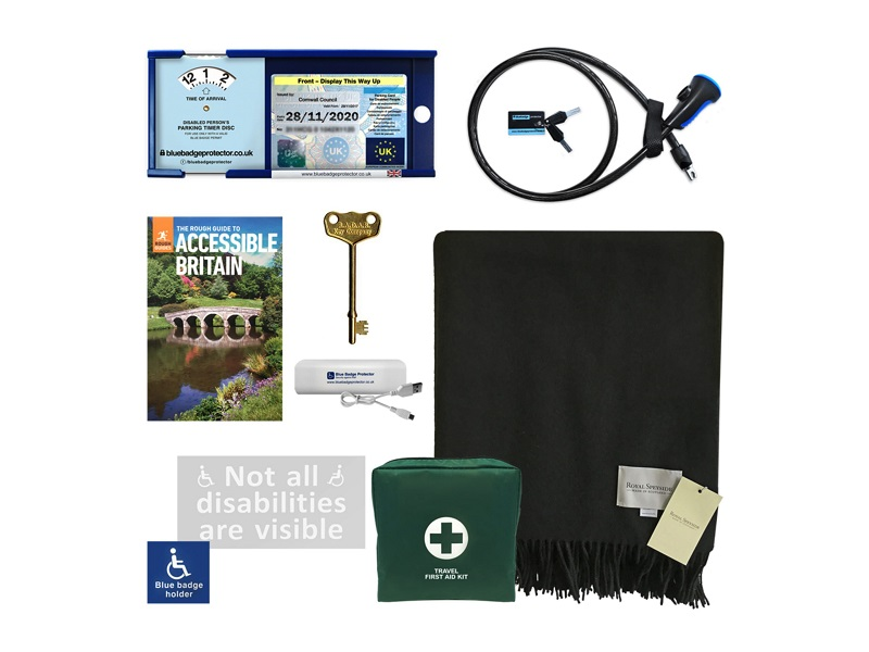 Disabled driver's accessory kit and Blue Badge anti-theft device