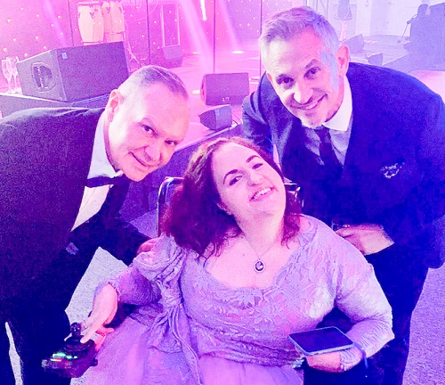 Georgina Moore with Paul Gascoigne and Gary Linekar at Sports Personality of the Year