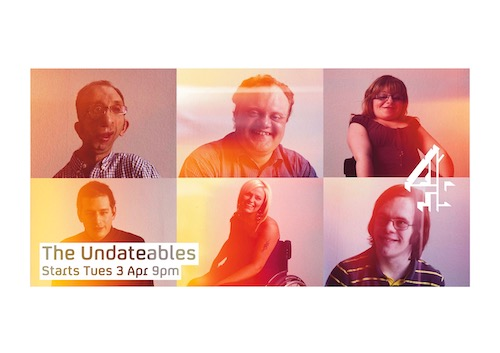 Sam Barnard on The Undateables billboard posters