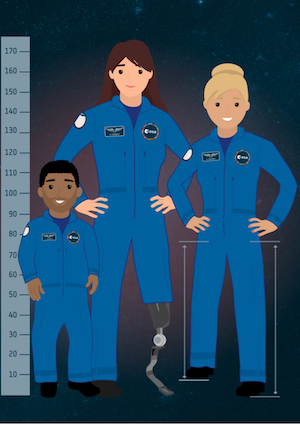 Animation of ESA astronauts with disabilities