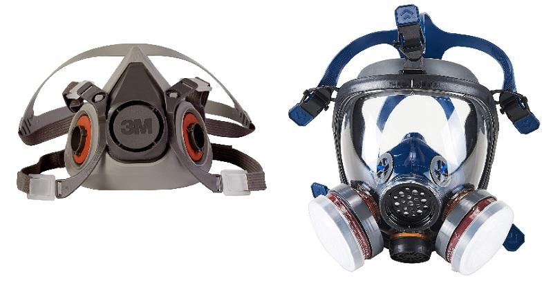 Half face respirator and full face respirator