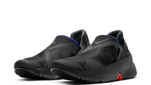 Nike Go FlyEase hands-free soes in black, Anthracite and Racer Blue