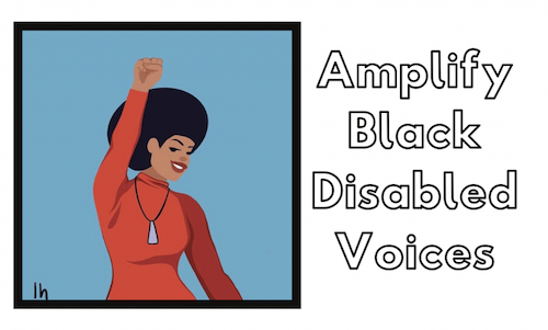 Cartoon person - Amplify Black Disabled Voices