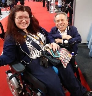 Emma Purcell & Warwick Davis at Naidex 2019