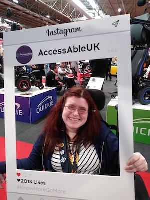 Emma Purcell with AccessAble at Naidex 2019