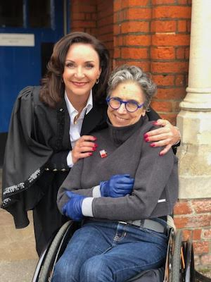 Kez Margrie on location with Shirley Ballas for 'OUR SCHOOL SUMMER CAMP'