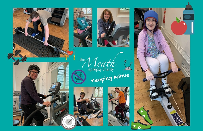 Residents from The Meath care home doing exercises