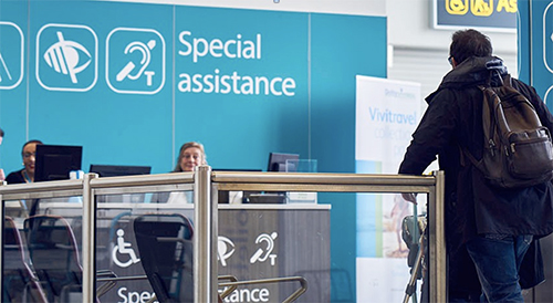 Special assistance desk at an airport copy