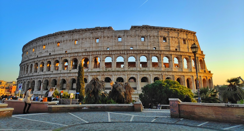 Accessible Roman Colosseum a ancient curved building