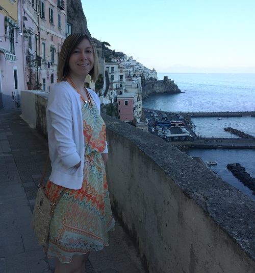 Amputee Brittany at in Italy looking out to sea