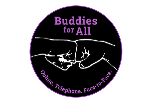 Buddies for all logo showing two fists together