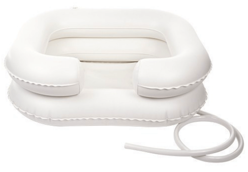 Inflatable shower basin