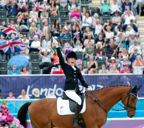 Sophie Christansen riding Rio the horse at Paralympics London 2012