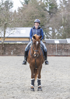 Sophie Christiansen riding on a horse