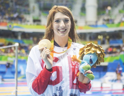 Bethany Firth Paralympic swimmer smiling at the camera
