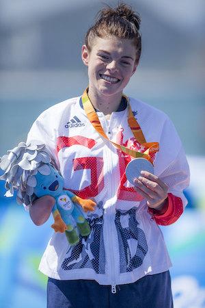 Lauren Steadman holding medal