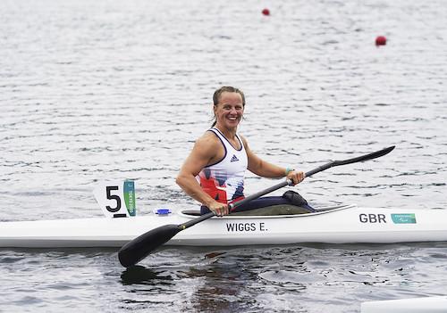 Emma Wiggs in canoe